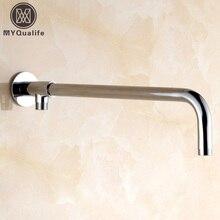 Новинка Хромированная Душевая насадка с фиксированной трубкой, настенный держатель для душа