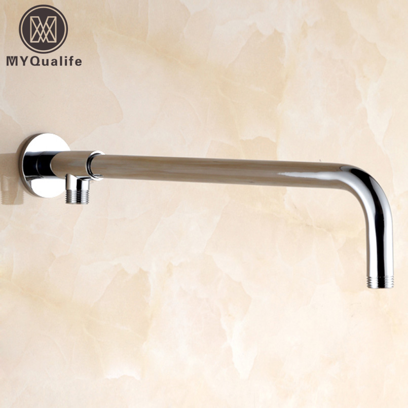 Newly Chrome Finished Shower Arm Shower Head Fixed Pipe Wall Mounted Shower Holder