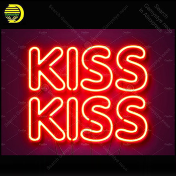 Neon Sign for Kiss neon Light Sign Home Love decorate Windower Bedroom Store Display Beer Sign Tubes Neon lights Advertise Lamps