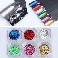 1 Box Irregular Nail Glitter Sequins Flakies Colorful Bling Paillette Manicure Nail Powder Flakes Decoration