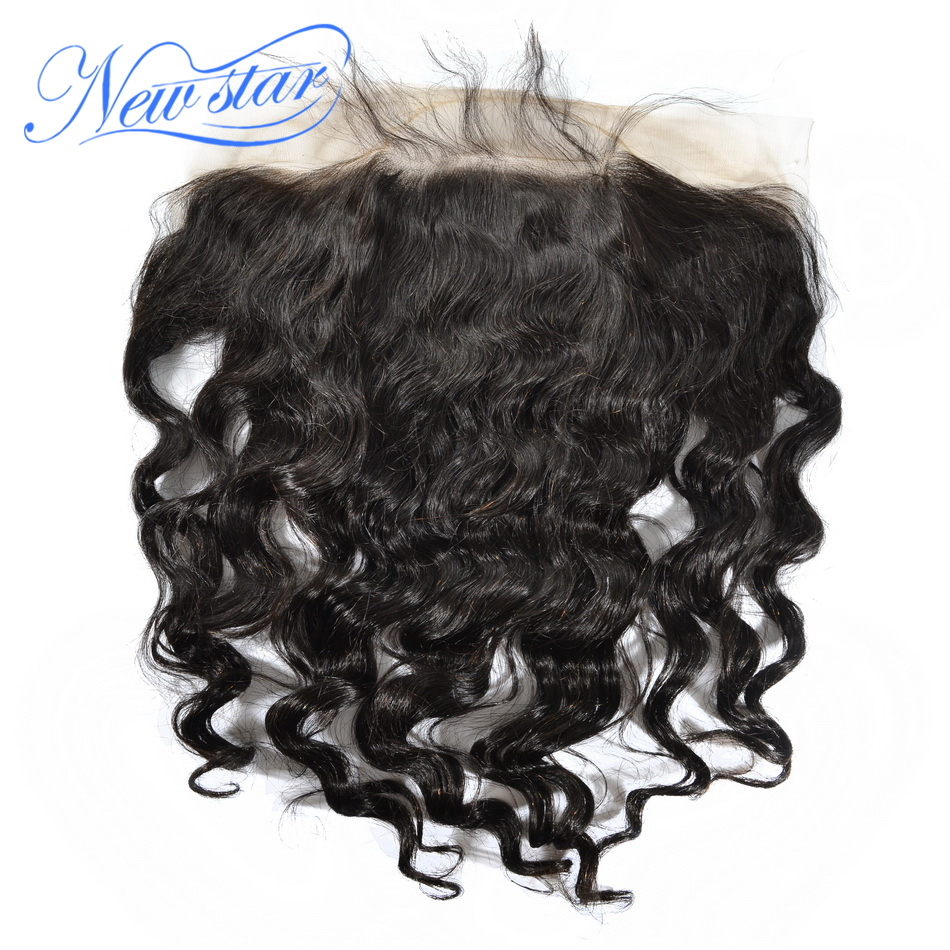 Hair Closures Lace-Frontal Virgin Pre-Plucked Bleached 100%Human-Hair Brazilian New Star