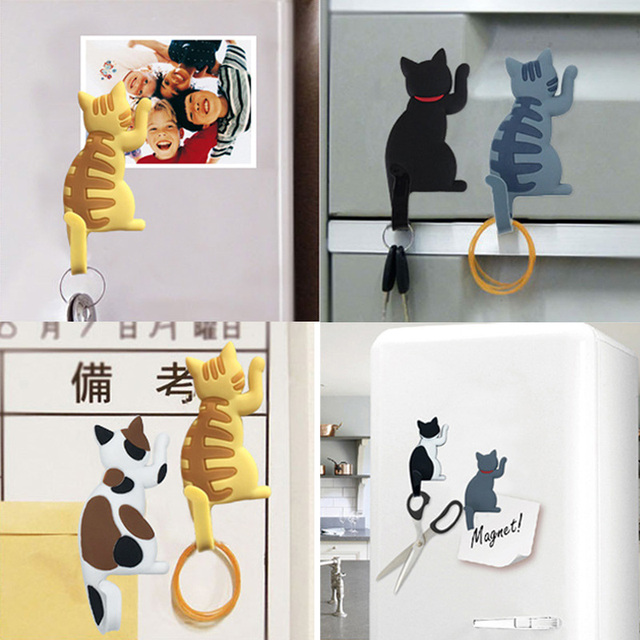 Cute Cartoon Cat Seamless hook up material fridge magnets whiteboard sticker Refrigerator Magnets Kids gift Home Decoration 4