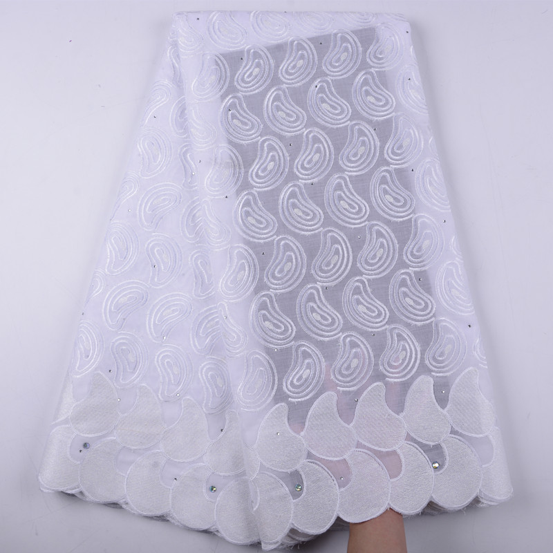 High Quality Swiss Voile Laces Switzerland Cotton African Dry Cotton Lace Fabric Nigerian Man Voile Lace