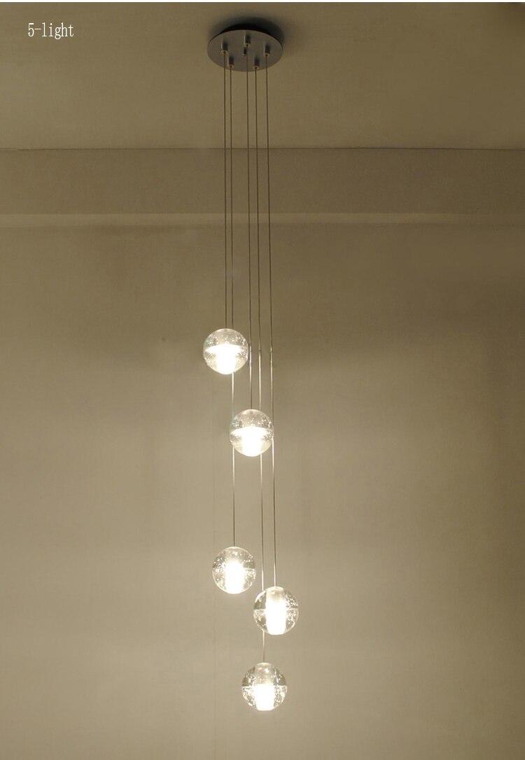 Phube Lighing LED Meteor Shower Chandelier Light Fixtures Stairwell Chandelier Modern Foyer DIY Crystal Chandelier