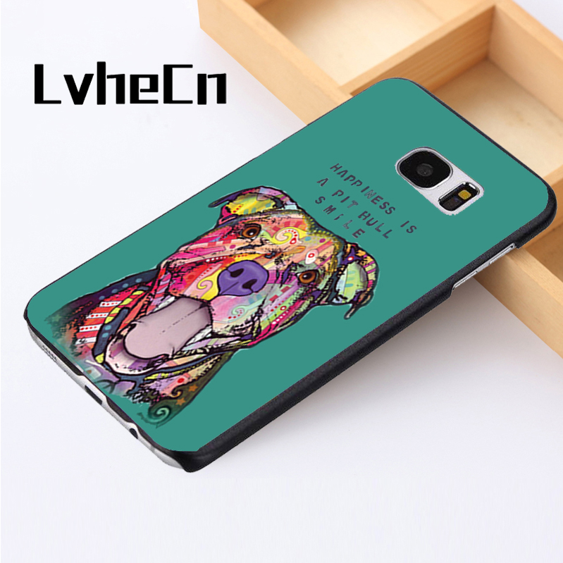 Lvhecn Телефон чехол для Samsung Galaxy S3 S4 S5 Mini S6 S7 S8 Edge Plus note2 3 4 5 7 8 Pit Bull улыбка животных защитный