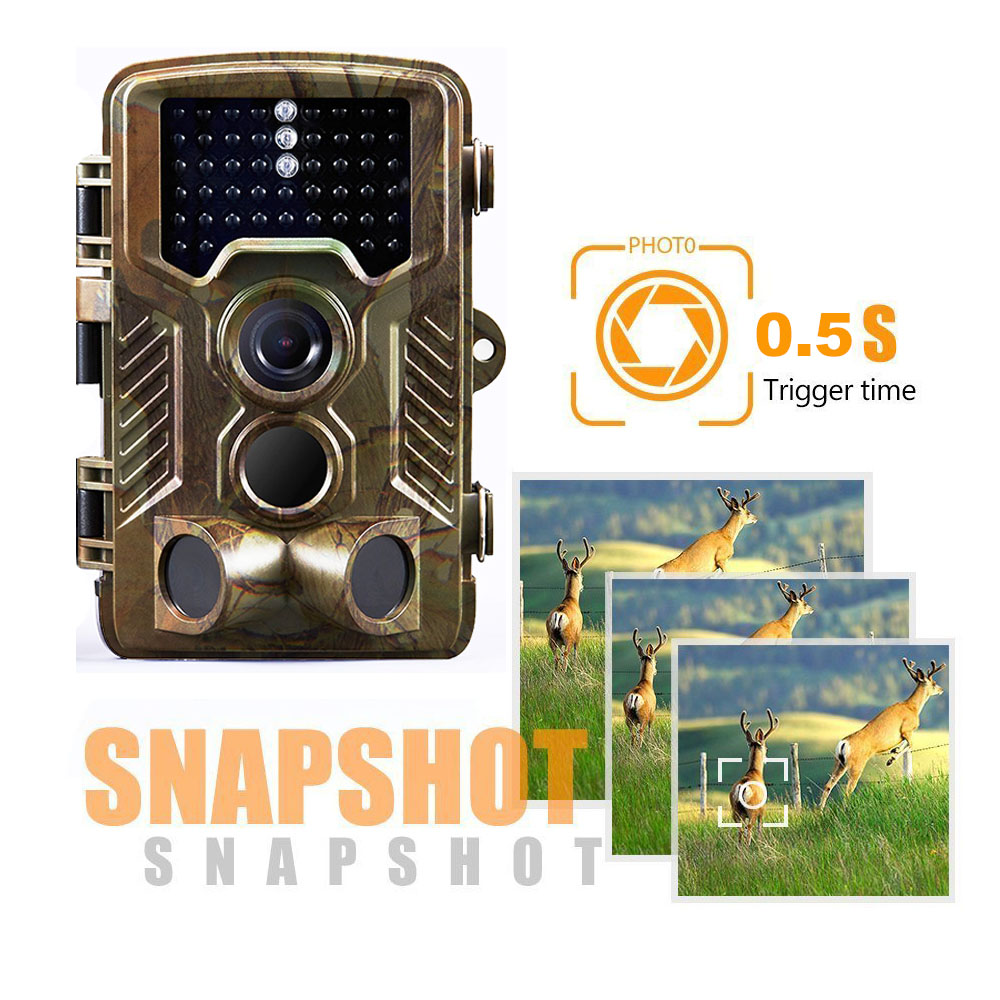 Night Vision <font><b>Hunting</b></font> <font><b>Camera</b></font> Photo Trap Waterproof Game <font><b>Trail</b></font> Came 12MP 1080P HD 42pcs IR LEDs Infrared Outdoor Wildlife Cameras image