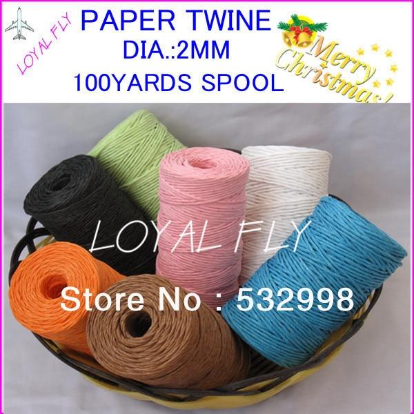 10 Farbe 20pcs / lot Bast-Band- / Papierschnur- / Papierschnur - - Partyartikel und Dekoration - Foto 2