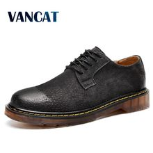 VANCAT Big Size Comfort Oxfords Casual shoes Men Flats Quality Suede Men Loafers Shoes Genuine Leather Shoes Sapato Masculino