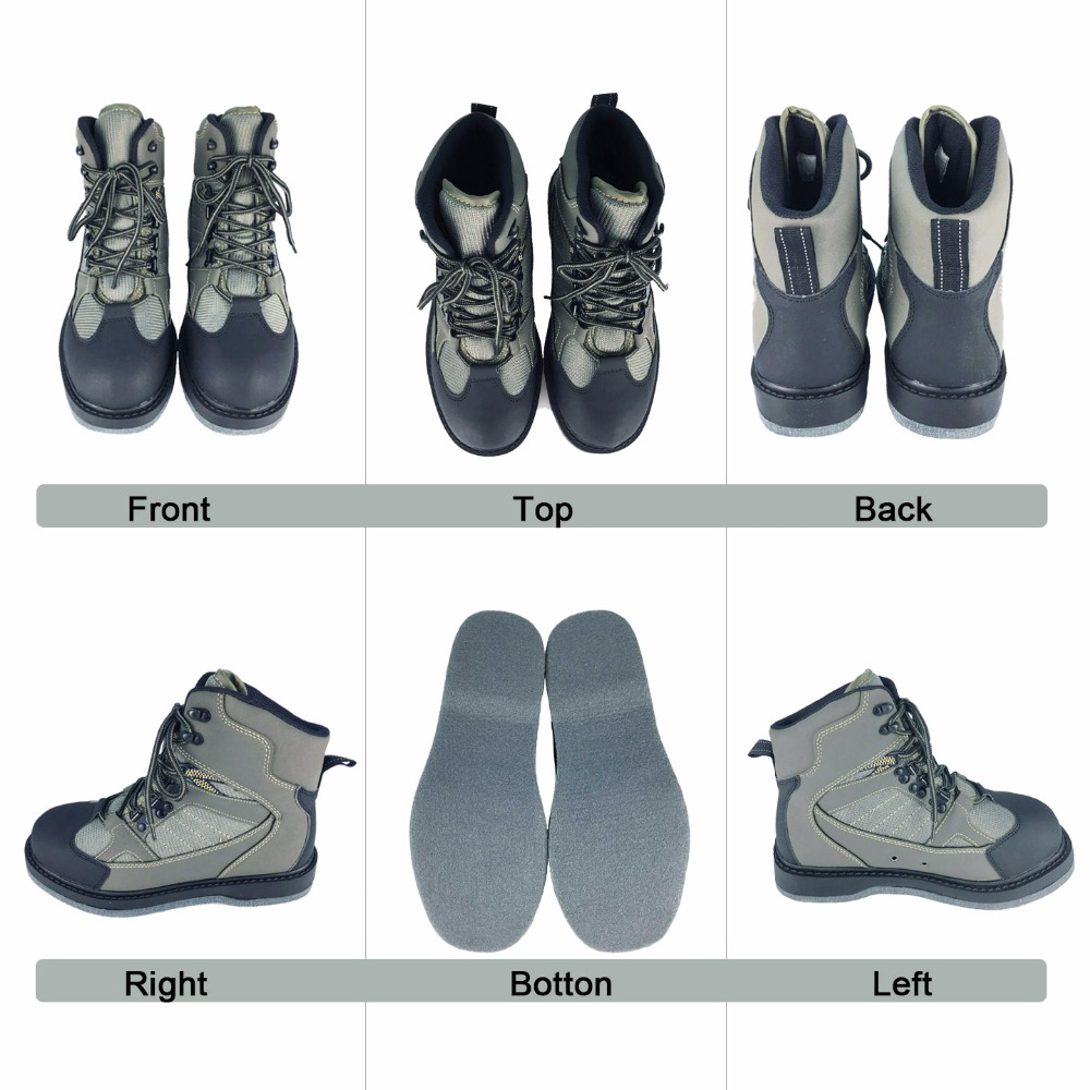 Fly Fishing Wading Shoes Aqua Sneakers Rock Sports Felt Sole Boots No slip Outdoor Hunting Water Waders For Fish Pants Clothing-in Fishing Waders from Sports & Entertainment    2