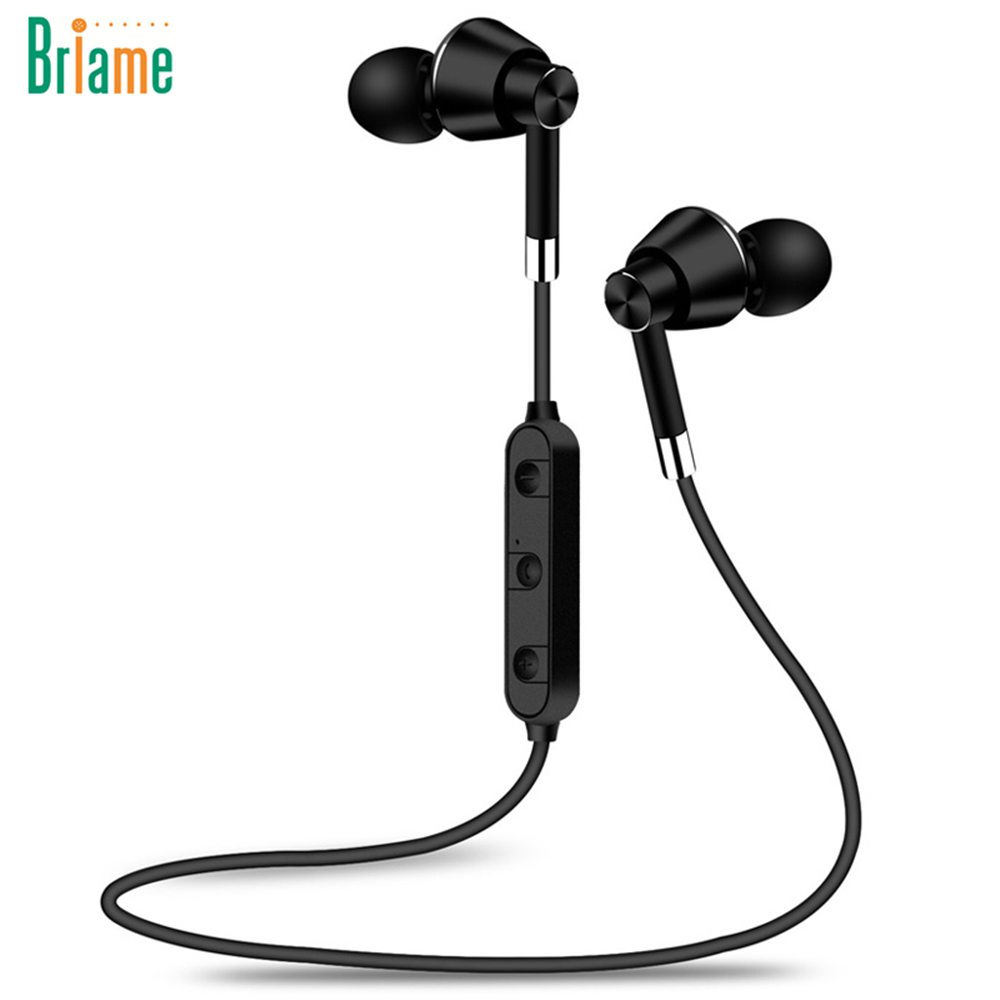 briame wireless headphone sport bluetooth earphone magnetic fone de ouvido for phone neckband. Black Bedroom Furniture Sets. Home Design Ideas