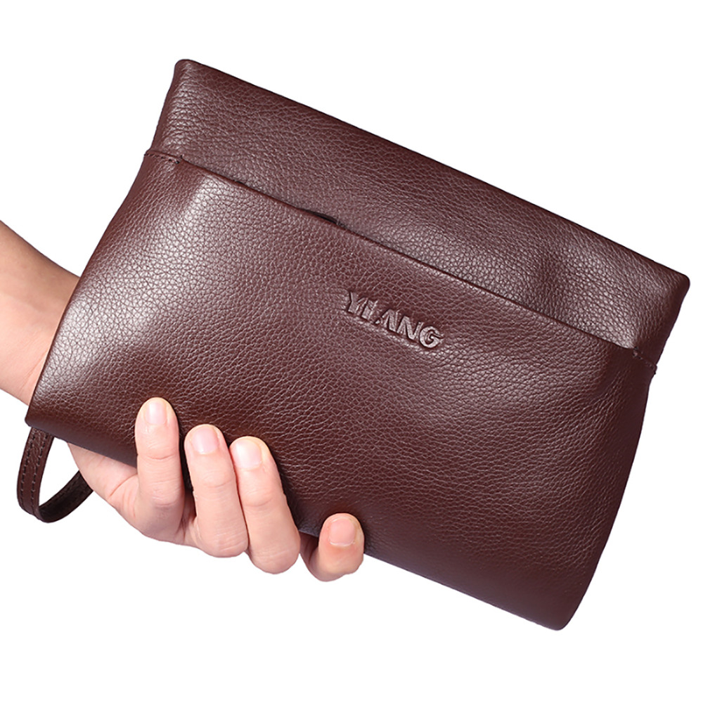 New Arrival Men Genuine Leather Business Clutch Bag Fashion Casual Male Hand Bags First Layer Cowhide Zipper Purse Long Wallet camillen 60 мыло для рук с дозатором handseife 1 л