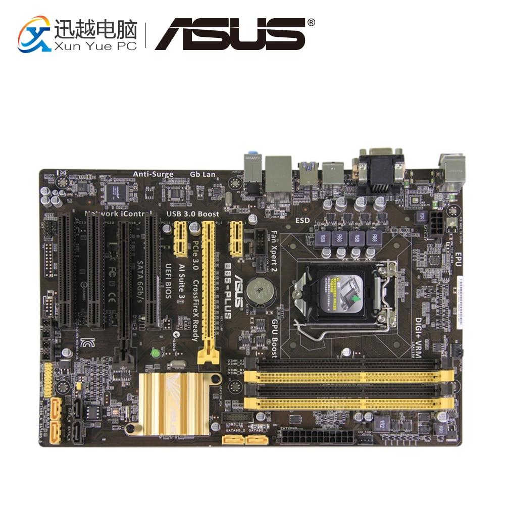 Asus B85-PLUS Desktop Motherboard B85 Socket LGA 1150 i7 i5 i3 DDR3 32G SATA3 USB3.0 ATX все цены