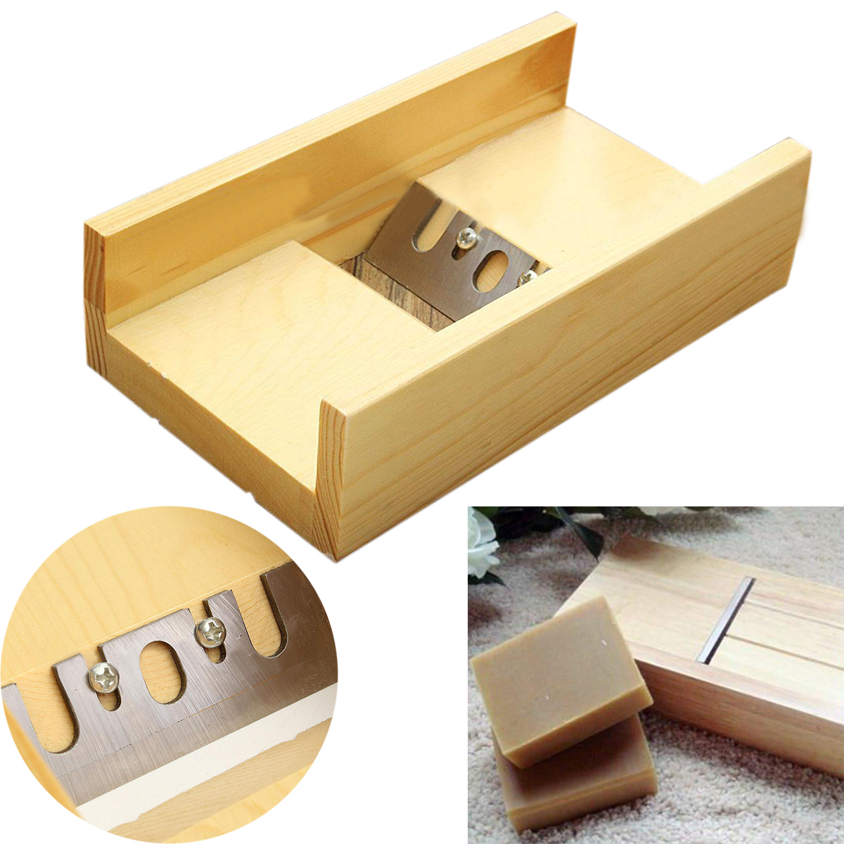 1pc Sharp Blade Soap Beveler Planer Wooden Beveler Candle Mold Cutter Craft Making Tool 2016 one soap mold loaf cutter adjustable wood and beveler planer cutting tool set