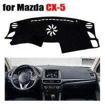 RKAC cobre esteira Do painel do Carro para MAZDA CX-5 todos os anos a movimentação da mão Esquerda pad plataforma Instrumento traço cobre acessórios