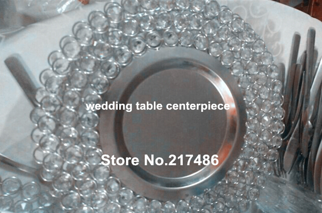 Online Get Cheap Crystal Plate Chargers Aliexpresscom Alibaba
