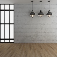 Laeacco French Window Lamps Brick Wall Wooden Floor Photography Backgrounds Vinyl Custom Photographic Backdrops For Photo Studio