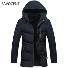 FAVOCENT Good Quality Men Jacket Super Warm Thick Mens Winter Parkas Long Coats with Hood for Leisure Men Parka Plus Size 4XL