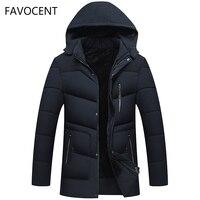 FAVOCENT Good Quality Men Jacket Super Warm Thick Mens Winter Parkas Long Coats with Hood for Leisure Men Parka Plus Size 4XL