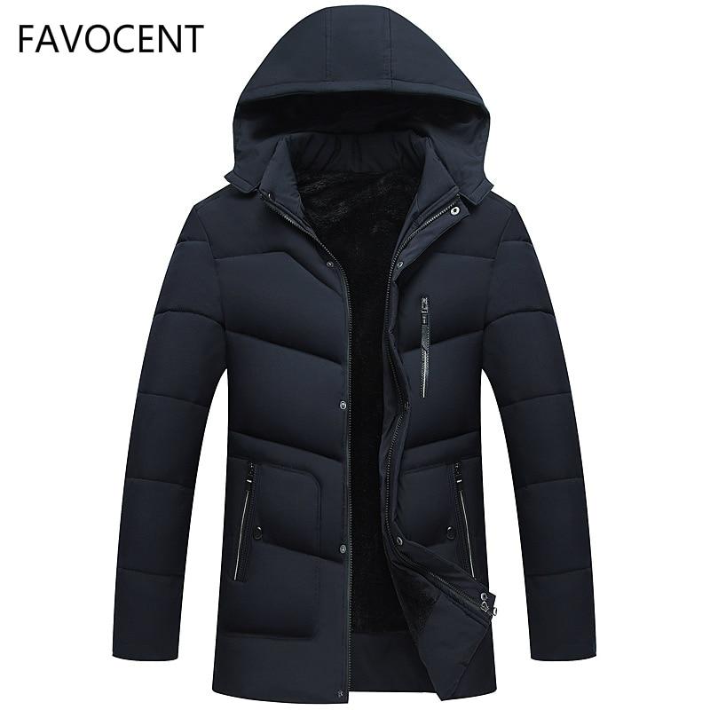 eed49a24d21 FAVOCENT hombres de buena calidad chaqueta Super grueso cálido invierno  Parkas abrigos con capucha para hombres de ocio Parka Plus tamaño 4XL en  Parkas de ...