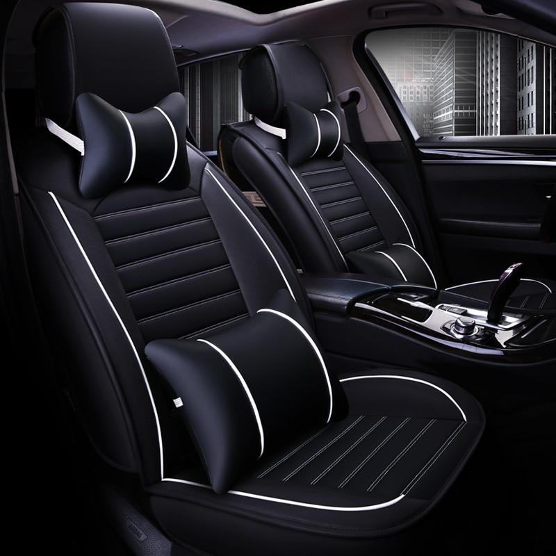 WLMWL housse de siège de voiture universelle en cuir pour Hyundai tous les modèles elantra solaris accent azera lantra tucson iX25 i30 iX35