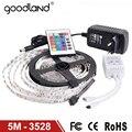 Goodland RGB 3528SMD LED Luz de Tira Flexible de Luz LED de Cinta lámpara 5 M DC12V Tira LLEVADA fuente de Alimentación 2A Remoto IR controlador