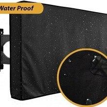 Защитный водонепроницаемый уличный ТВ чехол для 22-65 дюймов светодиодный экран пыленепроницаемые чехлы ткань из микрофибры чехол для телевизора