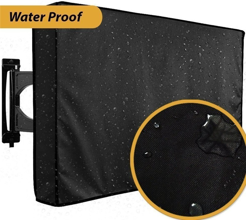 Furniture Protector Waterproof <font><b>Outdoor</b></font> <font><b>TV</b></font> <font><b>Cover</b></font> for 22-65 Inch LED Screen Dust-proof <font><b>covers</b></font> Microfiber Cloth Television <font><b>Cover</b></font> image