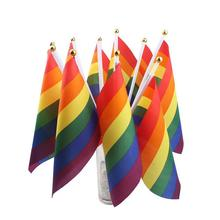 1 Pcs LGBT Flag For Lesbian Gay Pride Colorful Rainbow Peace Home Decoration Friendly Banner  Parade hot