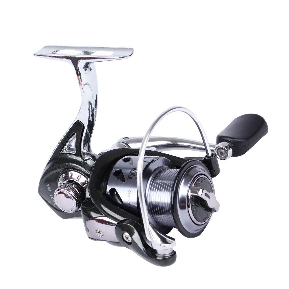 6BB Power Gear SG6000 Fishing Reel Left//Right  Aluminum Spool 5.1:1 Golden