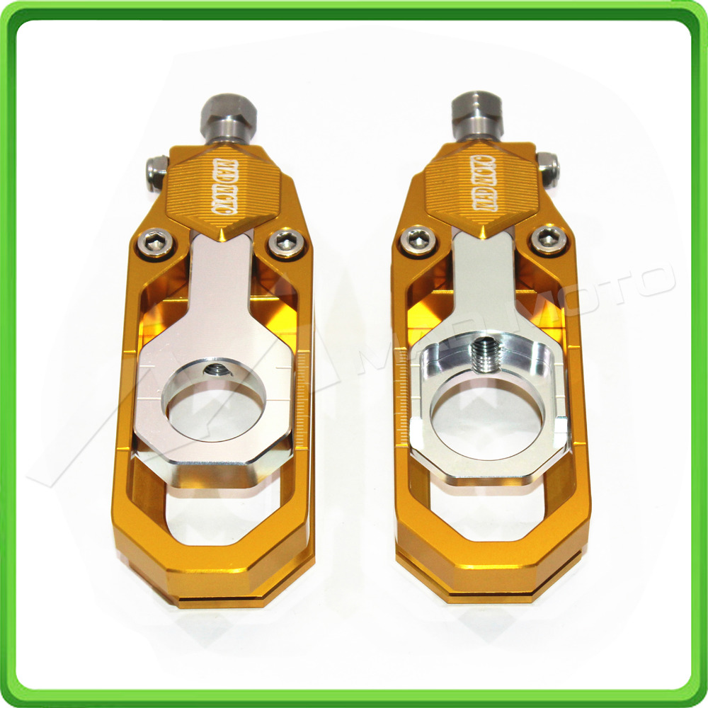 Motorcycle Chain Tensioner Adjuster fit for YAMAHA R6 YZF-R6 2006 2007 2008 2009 2010 2011 2012 2013 2014 2015 2016 Gold&Silver motocross dirt bike enduro off road wheel rim spoke shrouds skins covers for yamaha yzf r6 2005 2006 2007 2008 2009 2010 2011 20
