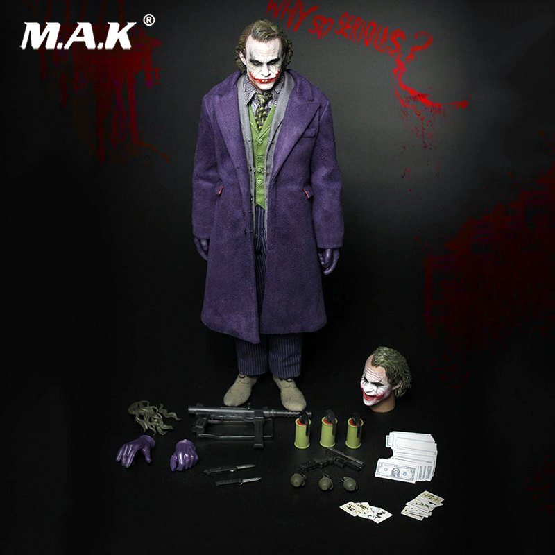 For Collections 1/6 Scale Batman Joker Collectible Action Figure W/2 Heads A001 Full Set Colletible Model Toys 1 6 scale full set male action figure kmf037 john wick retired killer keanu reeves figure model toys for gift collections