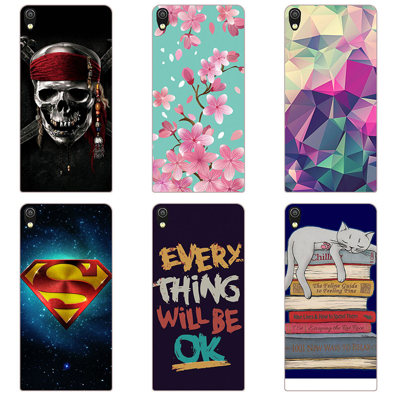 hard Plastic phone case cover For Huawei Ascend P6 P6-U06 phone shell  Colorful printing design Painted hard case shell Flower