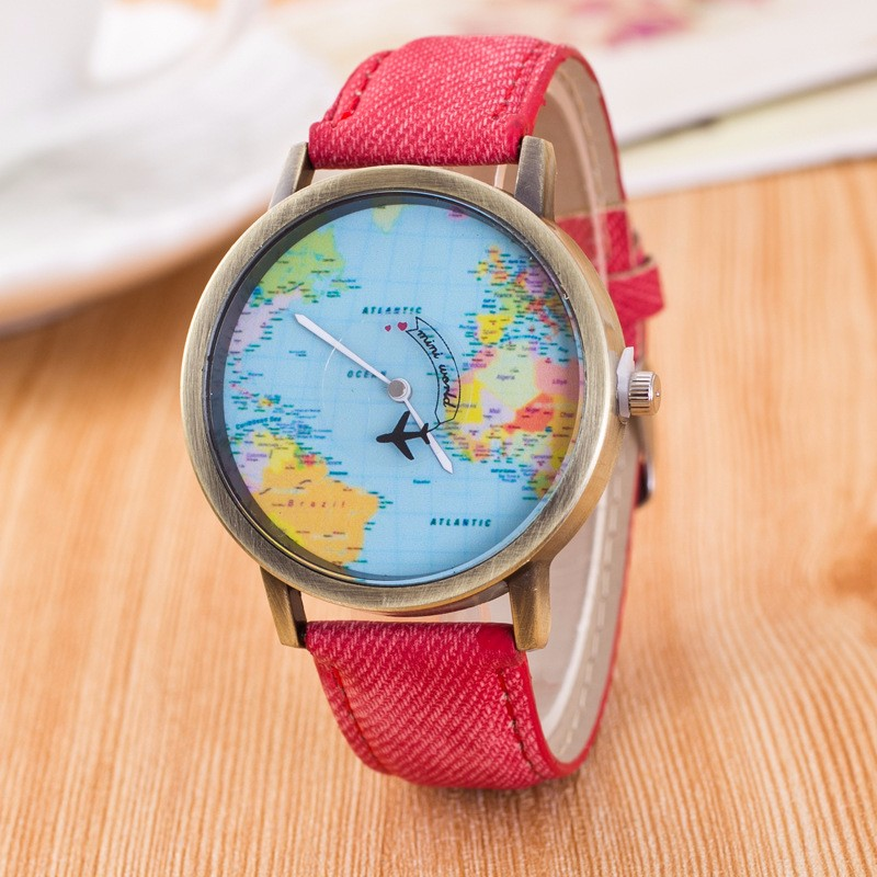 Topdudes.com - Vintage World Map Watches