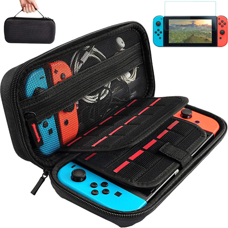 NS Travel Carrying Case 19 Game Shell Card Holders Pouch Bag for Nintend Switch Console Controller