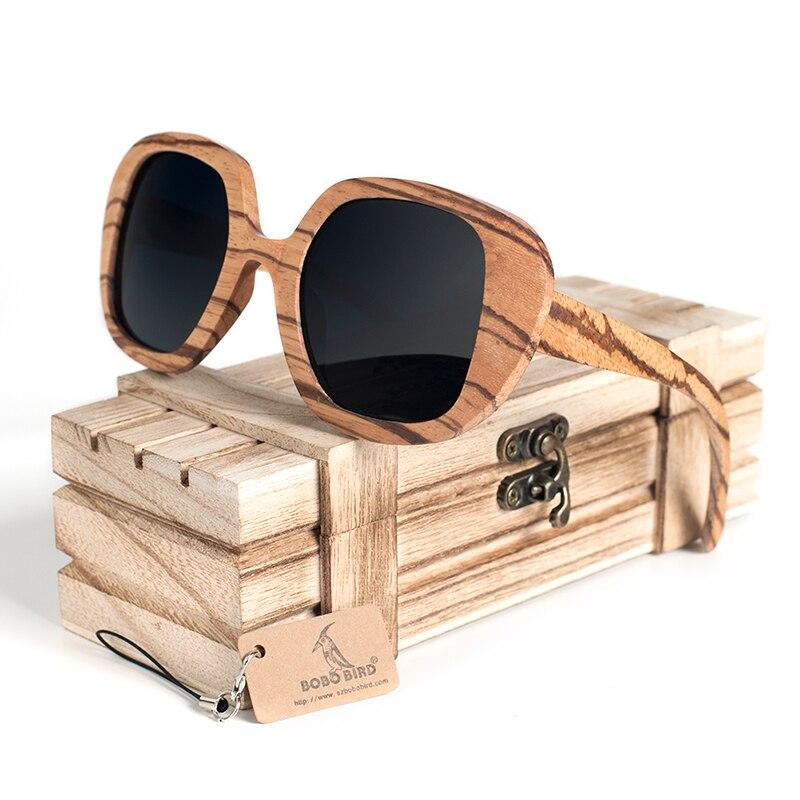 BOBO BIRD Polarized Retro Eyewear Wood Sunglasses 9