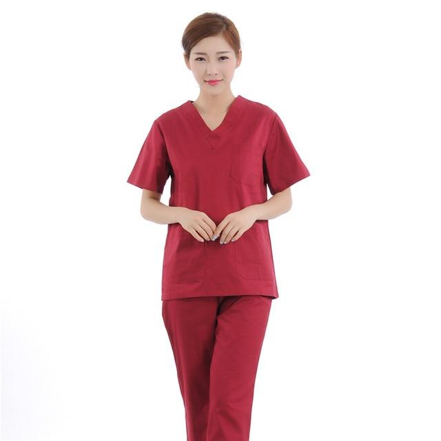 8d4b728e2c2 New Women Medical Scrub Sets Nurse Hospital Uniforms Dental Clinic Beauty  Salon Short Sleeve Medical Workwear Slim Fit 2148