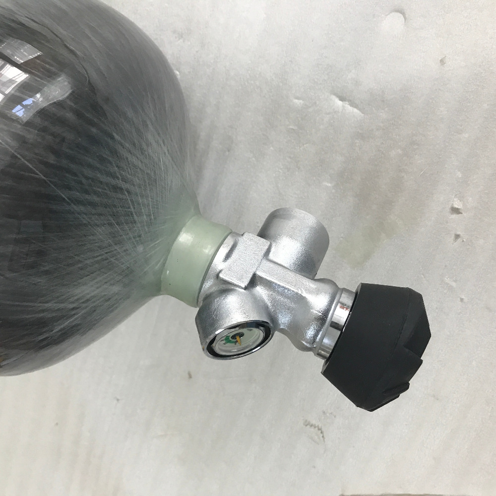 2017 New pcp gun 9L 300bar 4500psi mini scuba tank black gas cylinder fully wrapped carbon