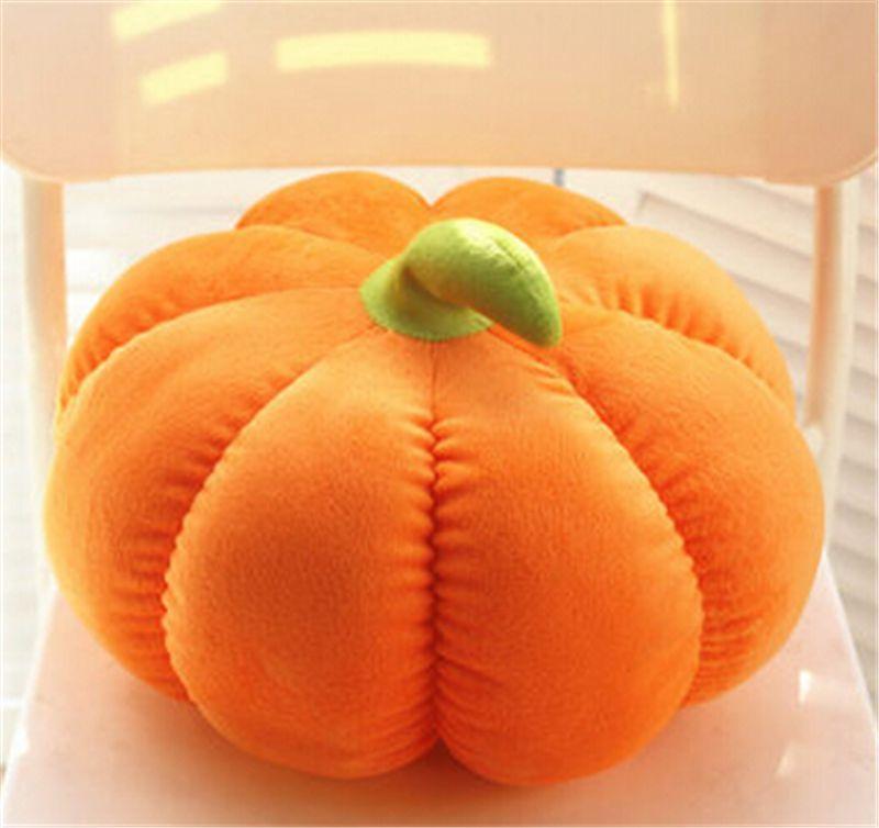 30 سنتيمتر * 45 سنتيمتر الأصفر اليقطين الفاكهة الخضار أفخم ديكور دمية وسادة عيد ميلاد وسادة اللعب دمية الساخن هدية