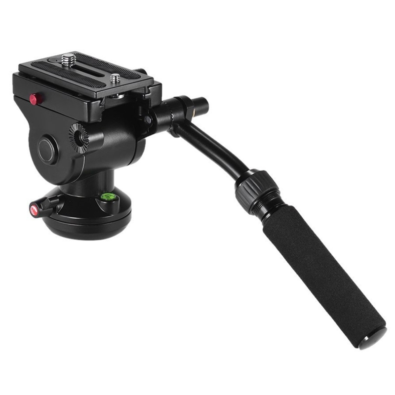 PULUZ Professional DSLR Tripod Ball Head Quick Release Sliding Plate Metal Heavy Duty Video Camera Tripod Fluid Drag Ballhead puluz heavy duty video camera tripod action fluid drag head with sliding plate for dslr