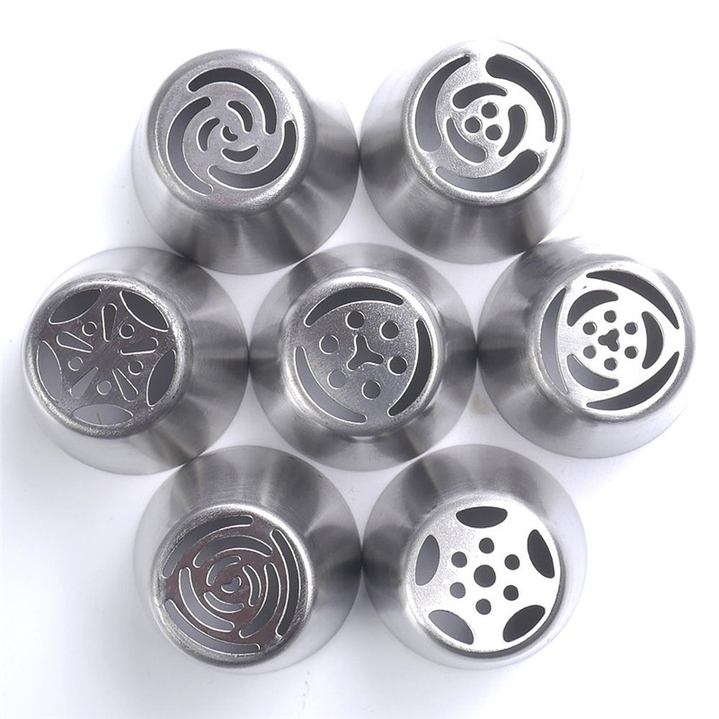 1Pcs Premium 304 Stainless steel Russian Nozzle Tips DIY Pastry Cream Cake Decorating Tools Kitchen Accessories Free Shipping