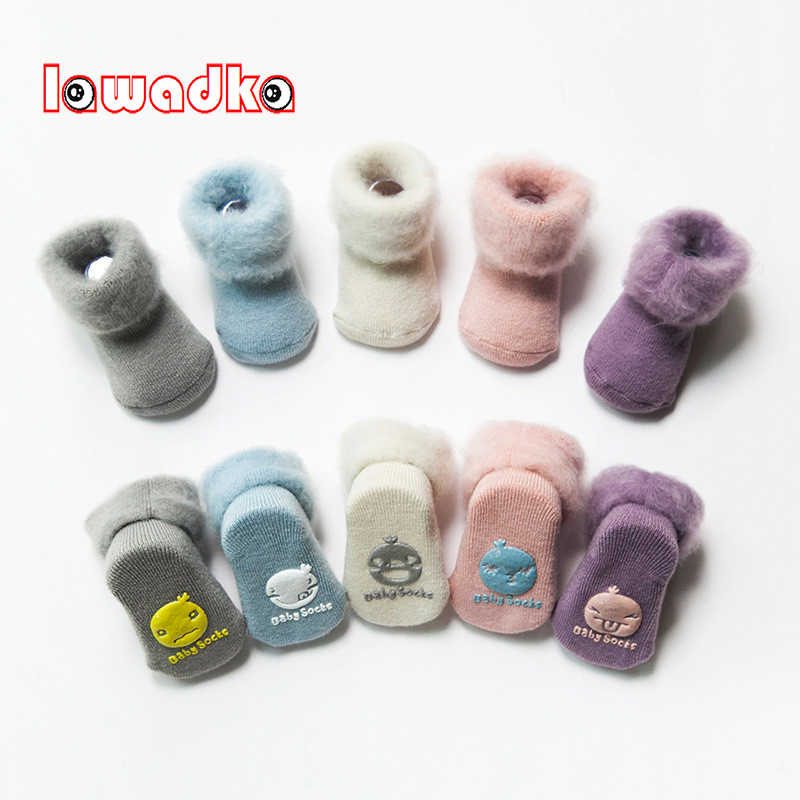 Lawadka Winter Thick Baby Terry Socks Warm Newborn Cotton Boys Girls Cute Toddler Socks