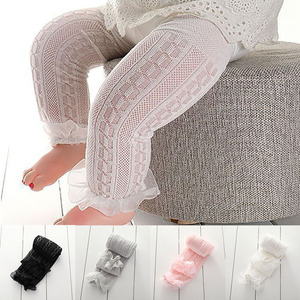 Summer Thin Baby Girls Tights Lace Transparent Newborn Infant Baby Stockings Breathable Mesh Girls Pantyhose Meisje