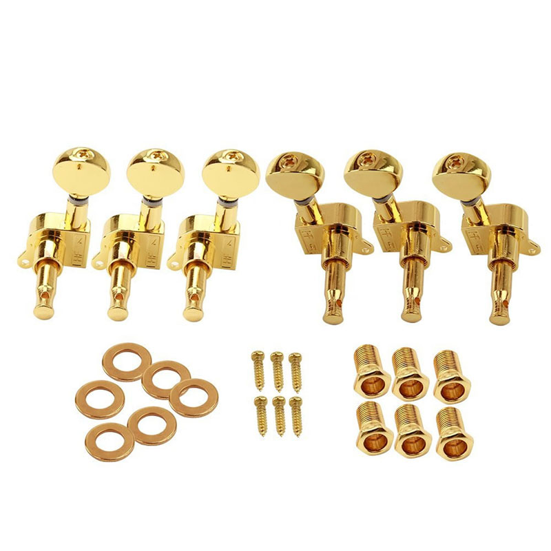 6Pcs Electric Guitar String Tuning Pegs Locking Tuners Keys Machine Heads 3L+3R Guitar Tuning Pegs Guitars Basses Parts 4r electric bass guitar tuners machine heads bass guitar tuning pegs tuning keys buttons chrome guitar parts