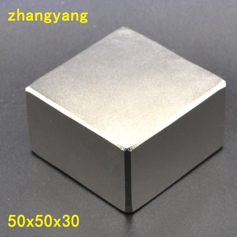 N52 1 pz 50*50*30 di NdFeB del Blocco 50x50x30mm Grande Forte Al Neodimio Permanente magneti di Terre Rare Magnete 50mm x 30mm x 30mm