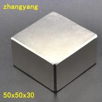 N52 1PCS 50*50*30 NdFeB Block 50x50x30mm Large Strong Neodymium Permanent Magnets Rare Earth Magnet 50mmx30mmx30mm