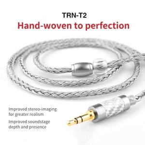 Image 1 - 새로운 3.5/2.5/4.4mm 밸런스드 케이블 16 코어 실버 도금 hifi 업그레이드 케이블 kz as10 zs10 zst cca c10 c16 용 mcx/2pin 커넥터