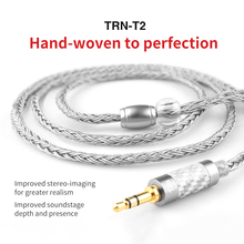 Nowy 3.5/2.5/4.4mm kabel zbalansowany 16 rdzeń posrebrzany kabel do aktualizacji HIFI MCX/2Pin złącze do KZ AS10 ZS10 ZST CCA C10 C16