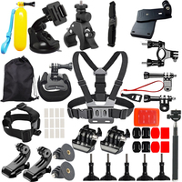 JOEAIS For Go Pro Hero 6 5 4 3 Xiaomi Yi Mijia 4k Accessories Kit SJCAM