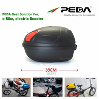 RU 2019 Ebike Top Case Box 17L e bike luggage Electric Scooter Trunk Motorcycle Rear boxes ABS PP Hard Tail Boxes Luggage case