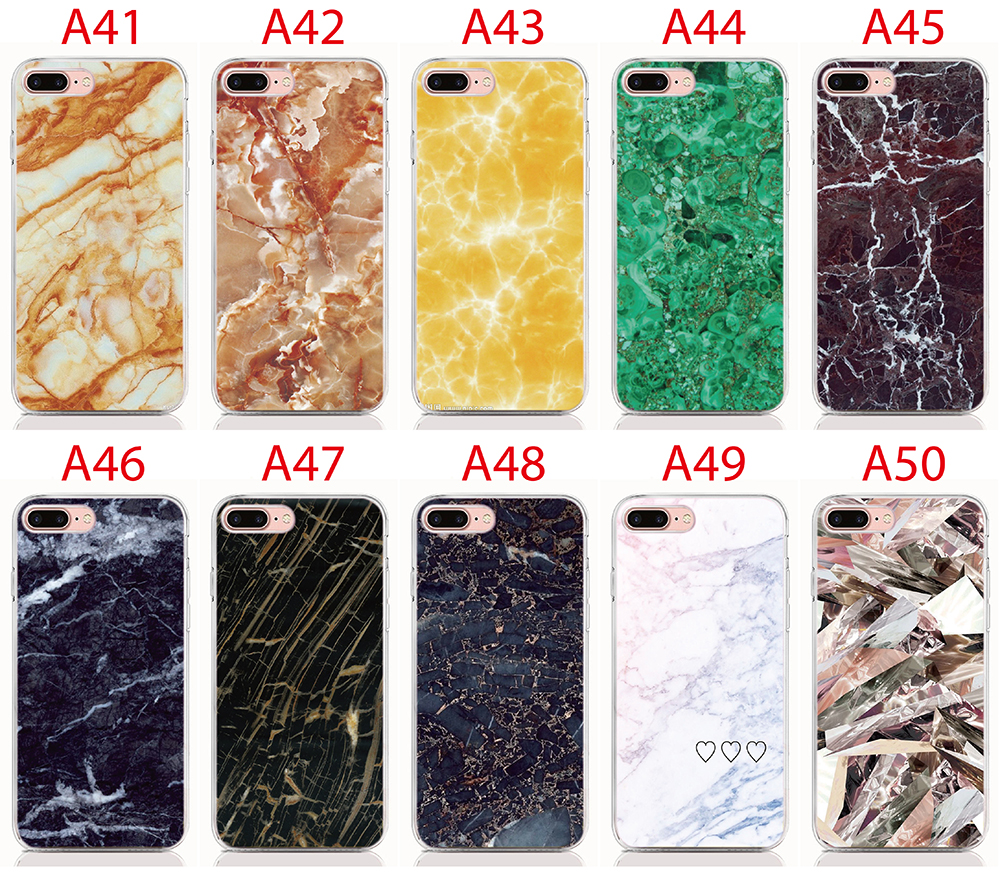 For LG Stylo 4 Soft Tpu Silicone Case Print Marble Back Cover Protective  Phone Cases